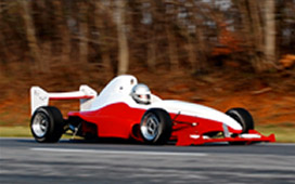 The F1000 speeding down the racetrack